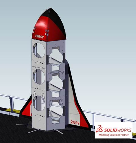 Figure 4‑33 Complete Red ROCKET nosecone lit. fb302d3a559a